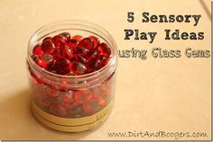 5 Sensory Play Ideas Using Glass Gems