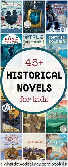 Thrilling Historical Fiction Books for Kids Historical fiction chapter books for kids that cover a wide variety of topics and time periods.Historical fiction chapter books for kids that cover a wide variety of topics and time periods. Kids Reading, Teaching Reading, Reading Lists, Reading Books, Historical Fiction Books For Kids, Non Fiction, Historical Romance, History Books For Kids, Fiction Novels