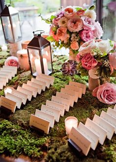 10 Spring Wedding Trends: 7.Miles of Moss. This springy greenery is a creative way to cover tables or make incredible living table runners. http://www.colincowieweddings.com/inspiration-and-details/10-spring-wedding-trends-for-the-floral-lover Floral by Designs by Ahn