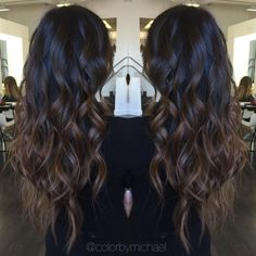 Dark Brown Hair Color With Highlights | Dark brown, Hair coloring ...