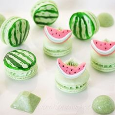 @christinascupcakes watermelon macarons and chocolates