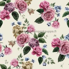 Illustration about Seamless floral pattern with pink roses on light background, watercolor. Illustration of floral, leaf, background - 50462802 Vintage Diy, Vintage Roses, Flores Vintage Png, Floral Frames, Estilo Floral, Shabby Chic Gifts, Vector Flowers, Lavender Flowers, Rose Flowers