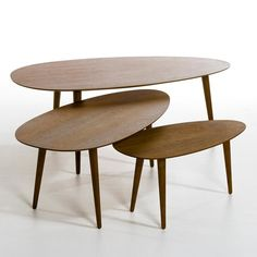Flashback Lacquered and Hevea Wood Coffee Table