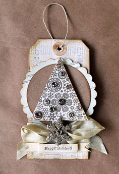 Christmas Tag!!! Bebe'!!! Attach this to a colorful gift bag and you are all set...that's a wrap!!!
