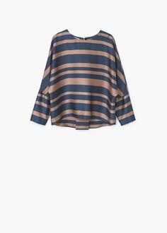 Flowy striped blouse | MANGO