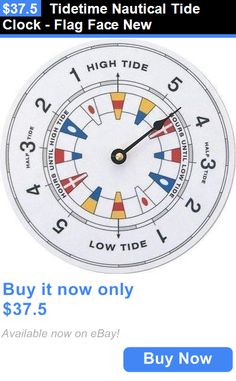 home decor tidetime nautical tide clock flag face new buy it now only - Tide Clock