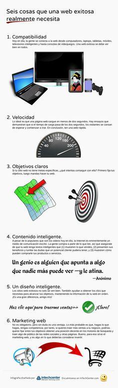 6 cosas que necesita una web de éxito #infografia #infographic #marketing