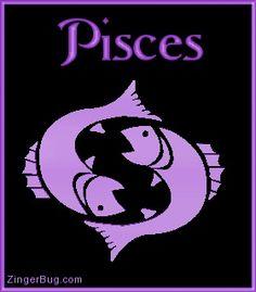 Pisces Purple Astrological Sign