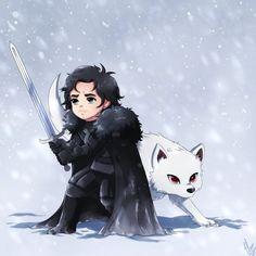 33 dibujos de Jon Snow y Ghost para usar como wallpaper | It's Spoiler Time!