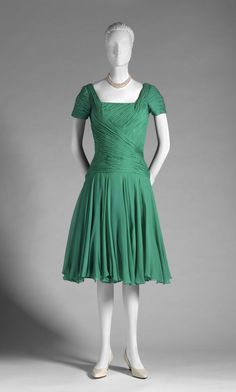 Designed by Ceil Chapman, American, 1912 - 1979  Geography: Made in United States, North and Central America Date: Mid- 1950s Medium: Silk c...