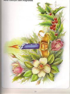 Riscos_1 - Maguiartes Pinturas - Álbuns da web do Picasa Christmas Images, Christmas Art, All Things Christmas, Vintage Christmas, Paper Flowers Craft, Flower Crafts, Flower Art, Parchment Design, Parchment Craft