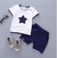 Suit Baby Boy Clothes Children Summer Toddler Boys Clothing set Cartoon 2018 New Kids Fashion Cotton Cute Stars Sets – trendsname Boys Summer Outfits, Summer Boy, Toddler Boy Outfits, Baby Boy Outfits, Kids Outfits, 2017 Summer, Summer Clothes, Stylish Outfits, Summer Time