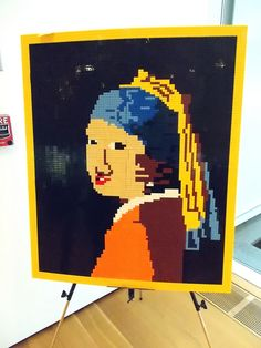 http://ranchococoa.com/arts-and-crafts/girl-with-a-pearl-earring/ #lego #art
