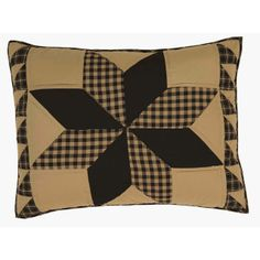 The Dakota Star Collection from Ashton and Willow by VHC Brands. Quilted Pillow Sham