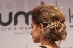 Acconciatura sposa realizzata al For Wedding Latina 2013 by Le Spose di Moumi
