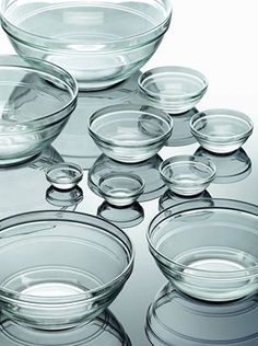 Lys Clear Stackable Bowls by Duralex, these bowls are extremely durable and ideal for everyday use. Tempered glass makes them equally suitable for hot and cold liquids.
