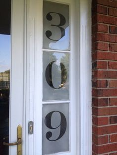 Improve your curb appeal with these vinyl decal house numbers. Apply to glass or directly to your door. Yeti Decals, Vinyl Decals, Glass Door, Glass Art, Window Decals, House Numbers, House Front, Curb Appeal, Home Accessories