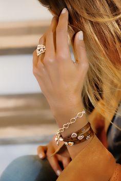 LACE Ring Gelbgold mit Diamanten