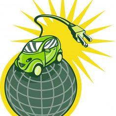 Green Eco Friendly Electric Car Plug Vector illustration of a green eco-friendly electric car on top of globe world with plug coming out. Created: GraphicsFilesIncluded: JPGImage Layered: Yes MinimumAdobeCSVersion: CS Tags: automobile