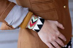what a terrific little craft idea http://abeautifulmess.typepad.com/my_weblog/2011/12/painted-leather-bracelet-diy.html