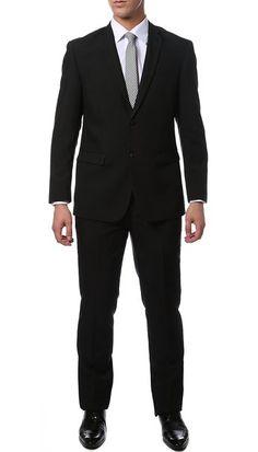 22aa9ef5c Ferrecci-Zonettie Mens 2 pc 2 Button Premium Slim Fit Suits at Amazon Men's  Clothing store: