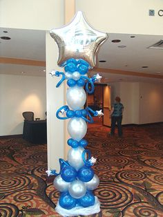 The large walk through balloon arch is a great way to get everyone involved into your event. Balloon Tower, Balloon Columns, Balloon Arch, The Balloon, Balloon Ideas, Star Centerpieces, Ballon Decorations, Star Theme Party, Party Themes