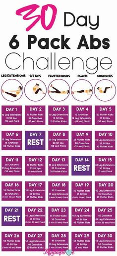 30 day 6 pack abs challenge home workout тренировка ягодиц, 30 Day Ab Workout, Abs Workout Routines, Abs Workout For Women, Yoga Routine, Fun Workouts, At Home Workouts, Night Routine, Workout Plans, Fitness Workouts