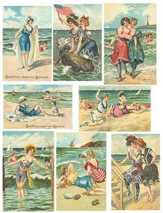 vintage beach printables