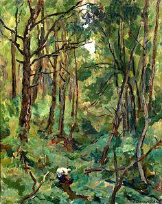 Pyotr Konchalovsky - Landscape. Ravine (1926)