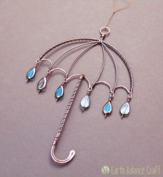 Rainy Umbrella Suncatcher by EarthBalanceCraft