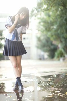 17 Adorable Japanese School Uniforms To Fall In Love With - Rolecosplay Cute School Uniforms, School Uniform Girls, Girls Uniforms, School Girl Japan, School Girl Outfit, Japan Girl, Cute Asian Girls, Beautiful Asian Girls, Cute Girls