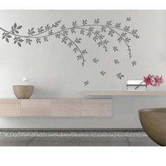 Wandtattoo - Blumenniederlassungspostkarte Wandtattoo Aufkleber - ein Designerstück von Wall-Decals bei DaWanda