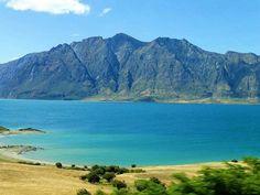 Lake Hawea, The Neck, New Zealand — by Alvaro Arvrim. Magnificent colors of lake Hawea, South Island, New Zealand.