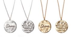 Shine Necklace in Gold Marilyn Monroe by HeartfeltByFoxy on Etsy
