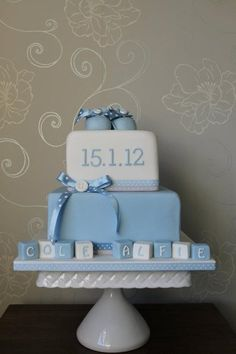 Baby shower cake for a boy... so cute!!