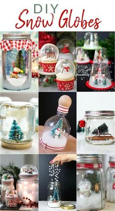 12 DIY Snow Globes filled with Winter Magic – The Crazy Craft Lady 12 DIY Snow Globes filled with Winter Magic – The Crazy Craft Lady,Christmas Crafts and DIY Make a fun wintry scene. Snow Globe Crafts, Diy Snow Globe, Christmas Snow Globes, Christmas Jars, Easy Christmas Crafts, Kids Christmas, Christmas Gifts, Kids Winter Crafts, Snow Globe Mason Jar