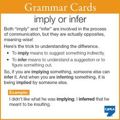 "Hopefully this makes ""imply"" and ""infer"" easier for you to use!"