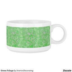 Green Foliage Chili Bowl