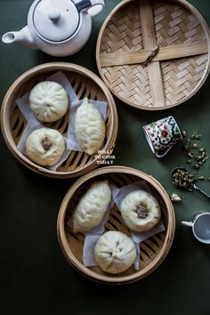Steamed Pork Scallion Buns