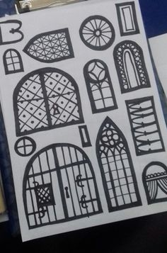 doors and windows - sticker to create your own paper castle Create Yourself, Create Your Own, Castle, Stickers, Windows, Doors, Paper, Illustration, Art