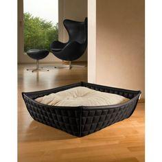 Cama Pet Interiors Bowl Piel Negro Crema