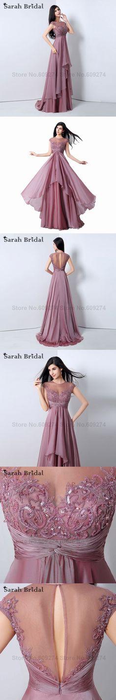 2015 Mauve Chiffon Beach long Prom Dresses Pleat Formal Long Evening Dresses vestidos de festa vestido longo formatura JS014