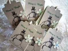 Snowman Gift Tag - Green Accents - Pkg. of 6. $2.25, via Etsy.