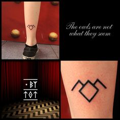 DOT BY TOT - Little Twin Peaks tattoo hand poked day 2 @...