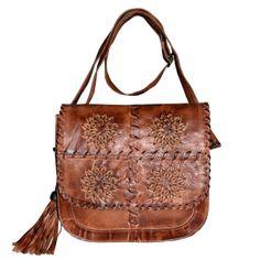 Geva Leather Bag Cognac