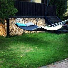 hammock by Trimm Copenhagen, Danish outdoor design Garden Furniture, Outdoor Furniture, Outdoor Decor, Copenhagen, Sun Lounger, Hammock, Cabin, Danish, Design
