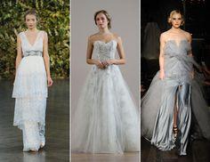 10 New Wedding Dress Trends for 2015 -- Something Blue