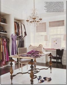 decorology: TIps for creating a superbly glamorous dressing room  Forget a closet.  I'm takin' over one of the kid's rooms.