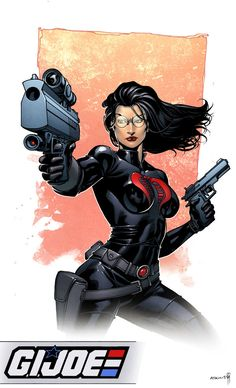 Baroness... again, from Cobra. Drawn by Robert Atkins, with colours from Simon Gough.