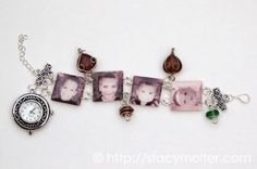 Personalized Charm Bracelet with Mod Podge and Shrinky Dinks